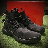 ACRONYM x Nike Air Presto Mid Utility BR Breathe Sport Running Shoes Men Black Shoes 844672-200