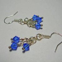 Simply Swarovski Earrings (blue)