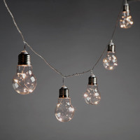 20CT Connectable Edison Bulb String w Fairy Lights