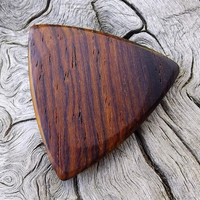 Handmade Premium Cocobolo Rosewood - Tri-Tip Guitar Pick - Actual Pick Shown - No Stock Photos