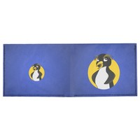 Rockhopper penguin cartoon billfold wallet