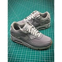 Nike Air Max 90 Grey Sport Running Shoes - Sale
