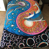 Bohomiean Bedspread /Housewarming gift/ Birthday gift/ Tapestry/Meditation/ Yoga/ Wall hanging/ Home Decore/ Bedspread/Bedsheet/Wall Hanging