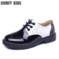 Spring autumn 2018 top selling boys child leather shoes rubber sole lace-up boys baby toddler shoes comfy kids leather shoes