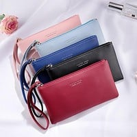 Envelope Style Zippered Clutch Bag