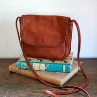 vintage leather bag CARAMEL brown leather cross body by MsTips
