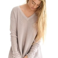 Travel Far Sweater In Mauve