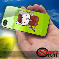 Cute Daryl Dixon Hello Kitty The Walking Dead - iPhone 4/4S, 5/5S, 5C - Samsung Galaxy S3, S4 for Rubber and Hard Plastic Case