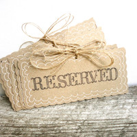 Reserved Wedding Signs - Rustic Weddings - Handmade & Reusable - (PG-1)