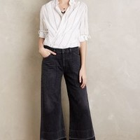 Citizens of Humanity Melanie Wide-Leg Crop Jeans in Black Size: