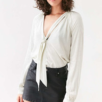Cooperative Tie-Neck Blouse - Urban Outfitters