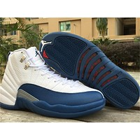 Air Jordan 12 French Blue Basketball Shoes 36-47