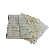 Vintage arabic hand written letters for mixed media art journaling.