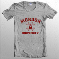 Mordor University LOTR Lord of the rings Women Tshirt