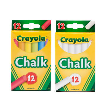Crayola Colored And White Chalk Pack of 12