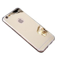 Apple iPhone 8 Plus Case, Reflective Mirror Easy Grip Slim Armor Case for iPhone 8 Plus - Gold