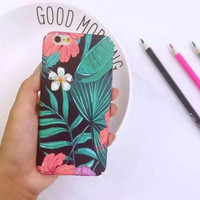 Retro leaves flower phone Case for iphone 6 6s 6Plus 6s Plus