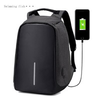 Multifunction USB charging Men 16inch Laptop Backpacks For Teenager Fashion Male Mochila Leisure Travel backpack anti thief