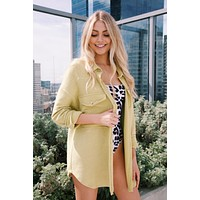 Cecilia Button Up Shacket, Lime