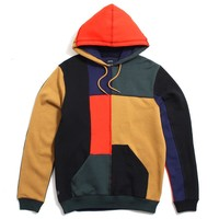 Arise Patchwork Pullover Hoody Multicolor