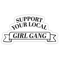 'Girl Gang' Sticker by lonelytourists