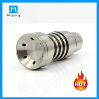Titanium Nail Rig Universal Domeless Titanium Nail Two Function GR2 Wax Oil For Glass Bong Glass Water Pipe Oil Rigs