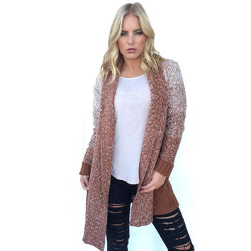 Channing Ombre Knit Sweater In Pumpkin