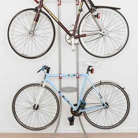 Double-Tiered Bike Rack- Silver One