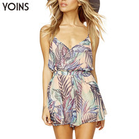 Summer Style V-neck Wrap Front Cami Romper Backless Women Jumpsuit Fashion Summer Bodysuit Sexy Beach Overalls