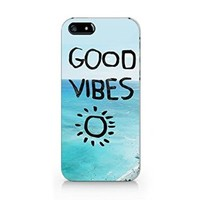 Good Vibes Beach Iphone 4 Case, Iphone 4S Case White Plastic Phone Case Cover -Emerishop