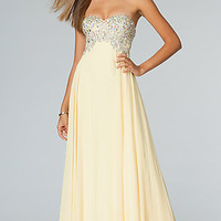 JVN by Jovani Strapless Prom Gown