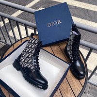 dior women casual shoes boots fashionable casual leather women heels sandal shoes 132