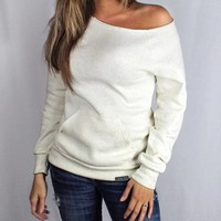 Luckless Clothing Company | Eco White Off Shoulder | Online Store Powered by Storenvy