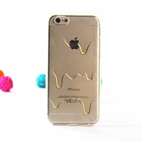 Cute Melting Ice Cream Ultra Thin TPU Rubber Case Cover for iPhone 5s 6s Plus