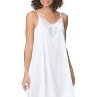 Woman Within Plus Size Full trapeze slip