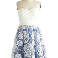 ModCloth Short Spaghetti Straps Fit & Flare Beautifully Beloved Dress