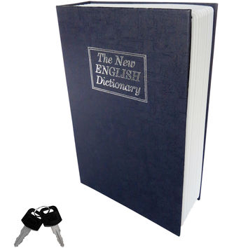Evelots® Home Dictionary Diversion Locking Book Safe, Metal, Full Size