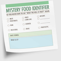 Funny Sticky Notes Notepad Mystery Food NSNX016 by NeatThings