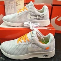 """OFF-White x Nike TANJUN"" Unisex Sport Casual Fashion Mesh Breathable Light Running Shoes Couple Sneakers"