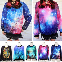 Womens Mens Space Galaxy Animal hoodie T shirt sweater Sweatshirt Top 2014 New  D_L = 1932227460
