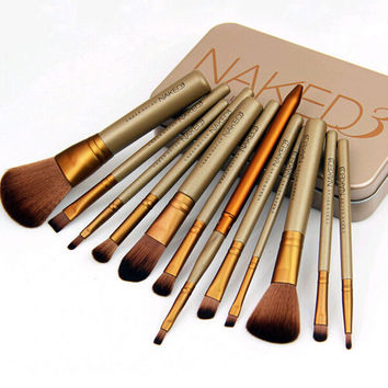 12pcs/set NAKED3 Makeup Cosmetic Brush Set