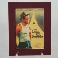 The Long Hot Summer (Paul Newman) 8x10 Authentic Movie Backer/Mini Poster Display Matted E0255