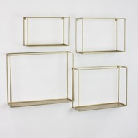 Square Metal 4-pc. Ledge Shelf Set