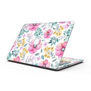 Subtle Watercolor Pink Floral - MacBook Pro with Retina Display Full-Coverage Skin Kit