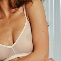 Sieve Non-Wire Bra in Peach
