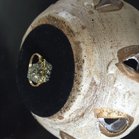 Wire-Wrapped Pyrite (Fools Gold) Ring