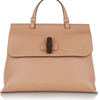 Gucci - Bamboo Daily medium textured-leather tote