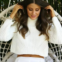 Pullover Stylish Crop Top Sweater [9688307471]