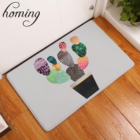 Autumn Fall welcome door mat doormat homing in front of door anti slip carpets colorful cactus pattern s bathroom absorption mats home decor crafts 40*60cm AT_76_7