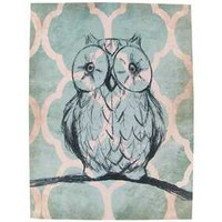 Teal, Cream & Black Owl Canvas | Hobby Lobby